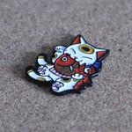 Negora & Koi pin (White & Red) by Konatsu