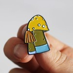 Huoli Family Funghi pin (Brown) by Taylored Curiosities