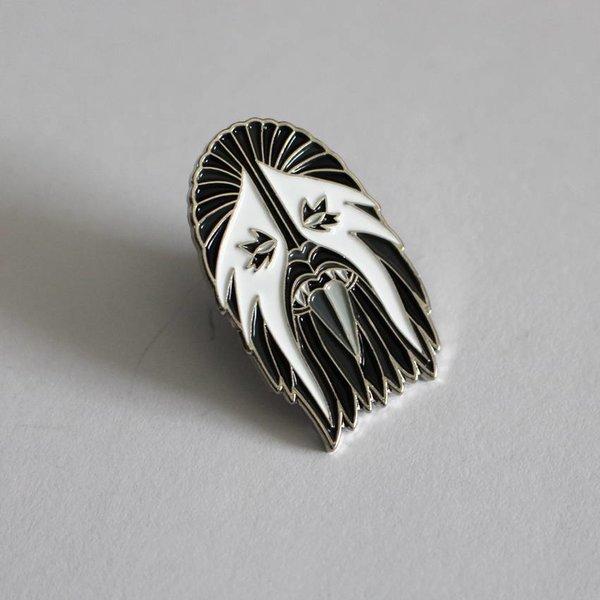 Heavy Metal Wookie Pin (White & Silver) by I Break Toys