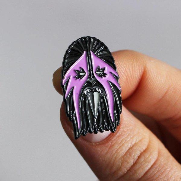 Heavy Metal Wookie Pin (Pink & Black) by I Break Toys