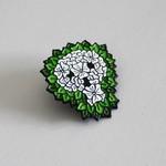 Reaper Skull Pin (White & Green) by David Stevenson