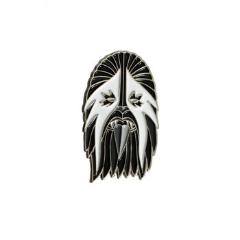 Heavy Metal Wookie Pin (White & Silver) by I Break Toys