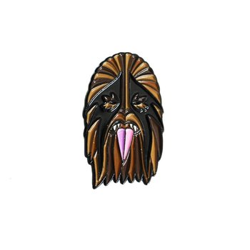 Heavy Metal Wookie Pin (Brown & Black) by I Break Toys