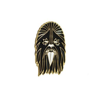 Heavy Metal Wookie Pin (Black & Gold) by I Break Toys