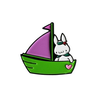 Sailor Bun pin (Purple & Green) by Haus of Boz