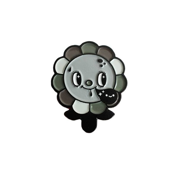 Megalopolitan Bloom pin (Mono) by Squink