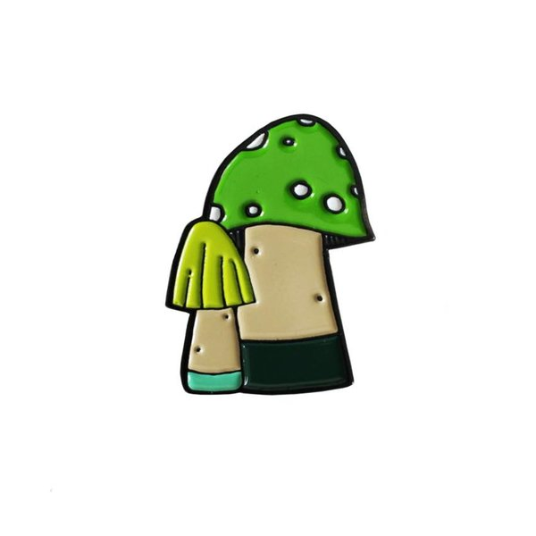 Huoli Family Funghi pin (Green) by Taylored Curiosities