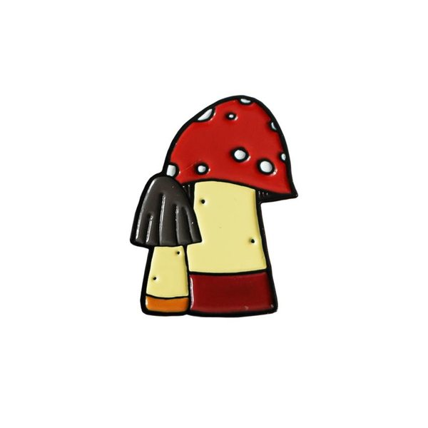 Huoli Family Funghi pin (Red) by Taylored Curiosities