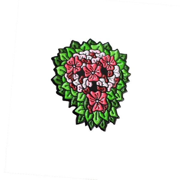 Reaper Skull Pin (Pink & Green) by David Stevenson