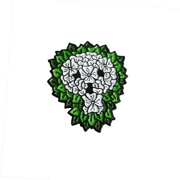 Reaper Skull Pin (White & Green) by David Stevenson