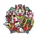 Negora Kumade Embroidered patch by Konatsu