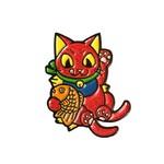 Negora Taiyaki pin (Red Glitter & GID) by Konatsu