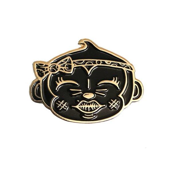 Plukkie pin (Black & Gold) by Creamlab