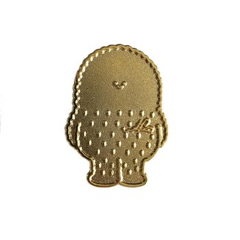 Treeson pin (Golden) by Bubi Au Yeung