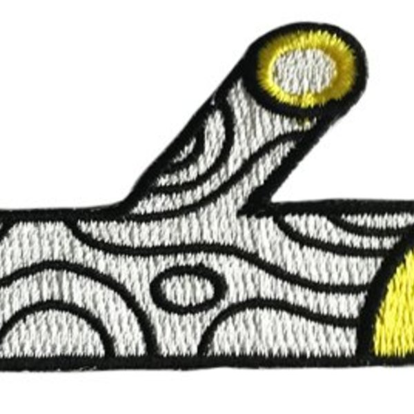Treeson Embroidered patch set (Yellow & Black) by Bubi Au Yeung