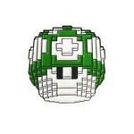 Mushroom Pin (Green) by Vuitbits