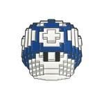 Mushroom Pin (Blue) by Vuitbits