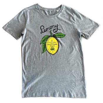 Lemony (Mid Heather Grey) T-shirt by Creamlab