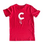 C-drip (Red) T-shirt by Creamlab