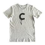 C-drip (Heather Grey) T-shirt by Creamlab