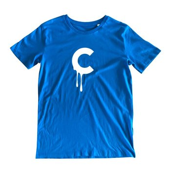 C-drip (Blue) T-shirt by Creamlab