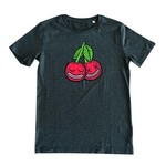 Cherrysh (Dark Heather Grey) T-shirt by Creamlab