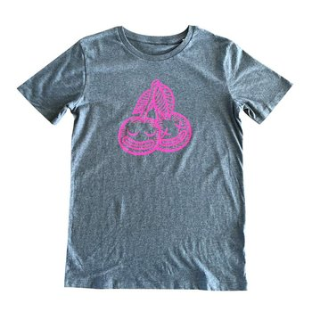 Cherrysh (Mid Heather Blue) T-shirt by Creamlab