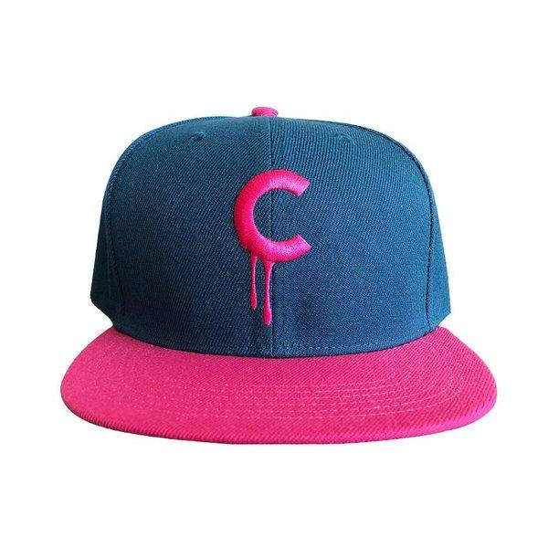 C-drip Snapback (Pink & Blue) by Creamlab