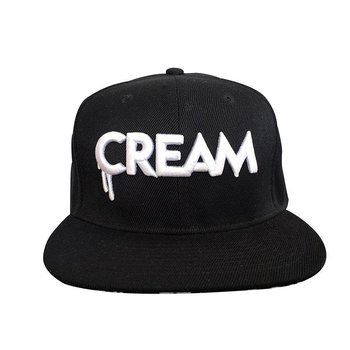 3D CREAM Snapback (Black Brim) by Creamlab