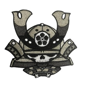 Skull Kid Katana (Black) Embroidered patch by 2Petalrose