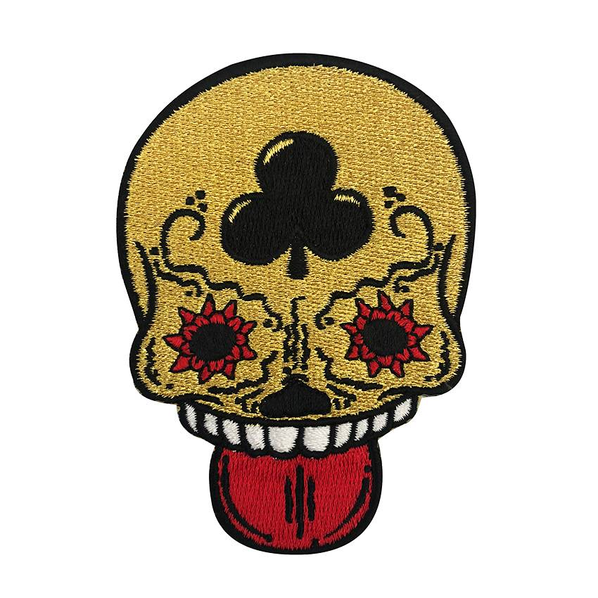 Calavera Gold Embroidered Patch By Creamlab Creamlab