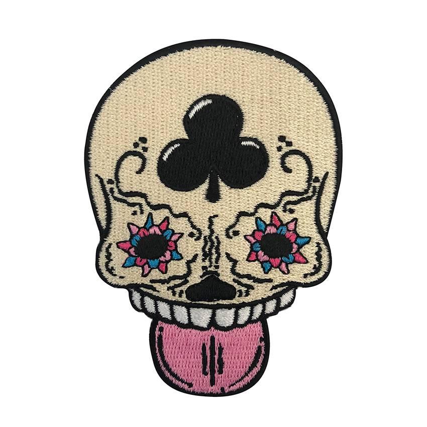 Calavera Vanilla Embroidered Patch By Creamlab Creamlab