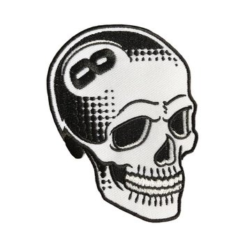 8 Ball Skull (White) Embroidered patch by Tizieu