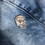 8 Ball Skull Pin (Antique Silver) by Tizieu