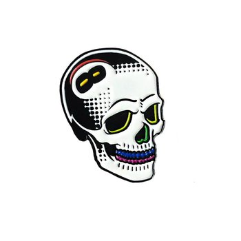 8 Ball Skull Pin (Rainbone) by Tizieu