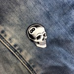 8 Ball Skull Pin (White) by Tizieu