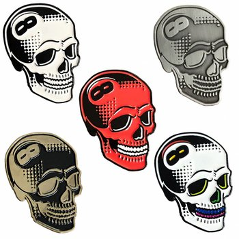 8 Ball Skull Pin set (5 Pieces) by Tizieu