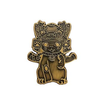 Ohonneko Pin (Antique Gold) by K2TOY