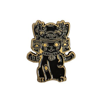 Ohonneko Pin (Black & Gold) by K2TOY