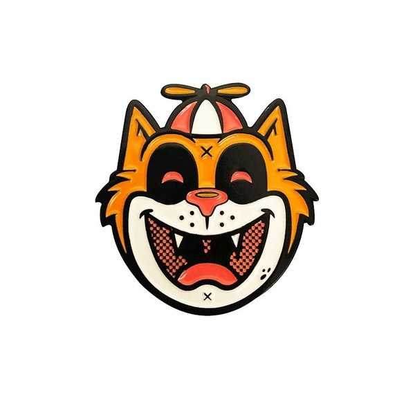 Tommy the Cat Pin (Orange) by Ekiem