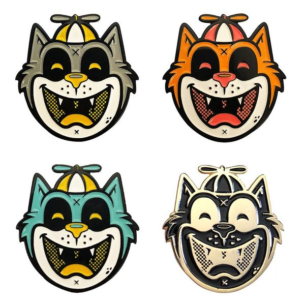 Tommy the Cat Pin set  (4 pieces) by Ekiem