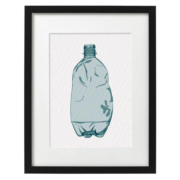 Bottled in Dark Blue Print (A3) by Tjelsie