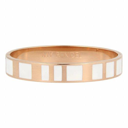 Katina My Bendel - Armband - Edelstaal - MB1002 - Rosé - Wit - 10 mm