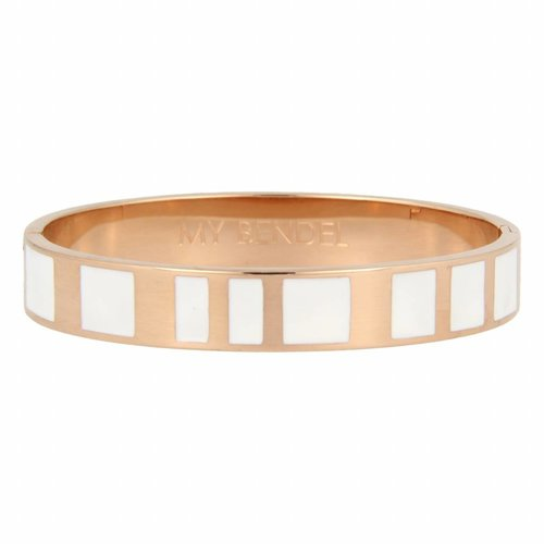 Katina My Bendel rose gold bangle with white design