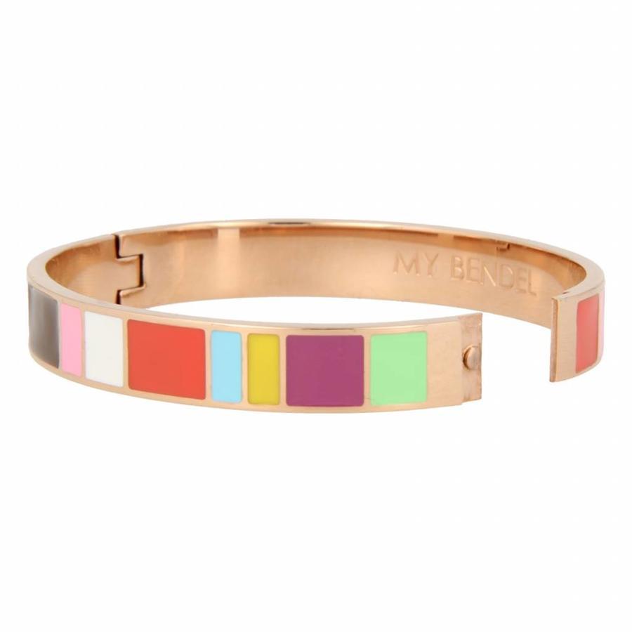 Katina Roségold Armreif mit leuchtenden Farben