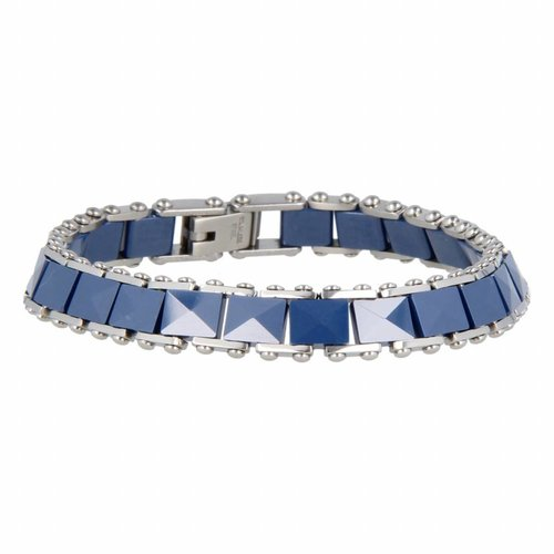 Godina My Bendel link bracelet with blue ceramic