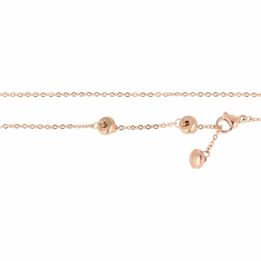 Picolo Nice pink gold necklace with sparkling zirconia ring.