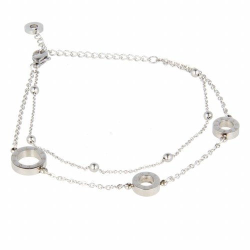 Picolo My Bendel - Armband - Edelstaal - MB6017 - Zilver - LOVE - 12 mm