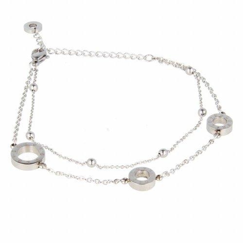 Picolo My Bendel LOVE silver link bracelet