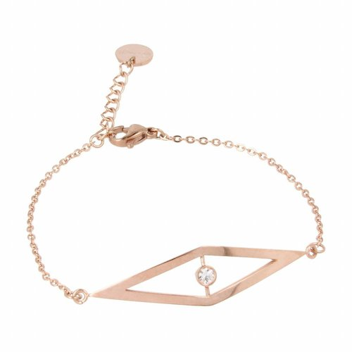 Picolo My Bendel rose gold link bracelet with zirconia charm